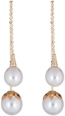 BELPEARL 18K 6.5-9Mm Freshwater Pearl Earrings
