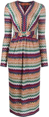 Missoni Zigzag Fitted Midi-Dress