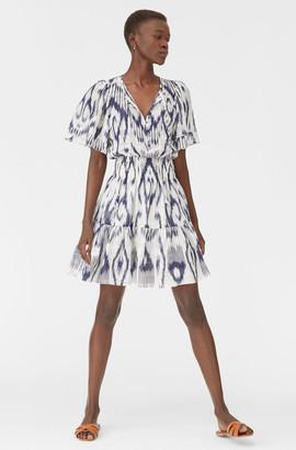 Rebecca Taylor Indigo Ikat Silk Dress
