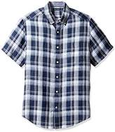 Men's Short Sleeve Button Fitted Shirt Linen - ShopStyle