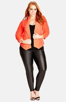 City Chic Plus Size Women's Chiffon Sleeve Blazer