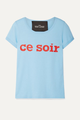 Marc Jacobs The THE Redux Grunge Printed Cotton-jersey T-shirt - Light blue