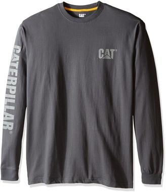 Caterpillar Men's Big and Tall Trademark Banner L/S T-Shirt