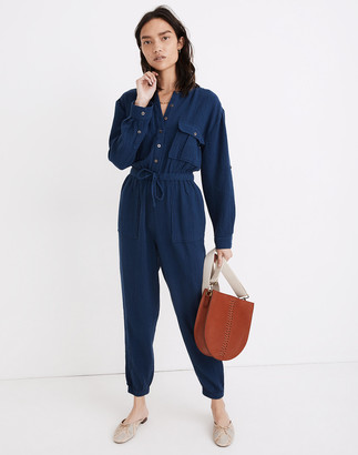 Madewell Lightspun Tapered-Leg Jumpsuit