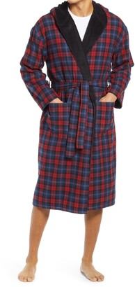 Majestic International Plush Flannel Hooded Robe