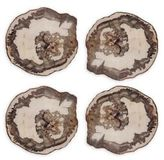 Kim Seybert Petrified Wood Coasters/Set of 4