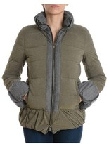 Eleventy Women's Green Polyamide Down Jacket.