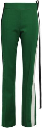Haider Ackermann Satin-trimmed Wool-blend Straight-leg Pants