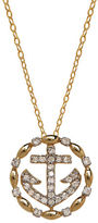 Lord & Taylor 14K Yellow Gold Diamond Anchor Necklace