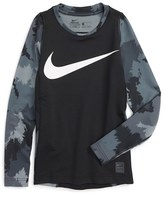 Nike Pro HyperWarm Fitted Top (Little Boys & Big Boys)