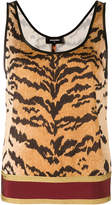DSQUARED2 tiger print tank top