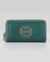 Tory Burch Amanda Continental Zip Wallet, Green