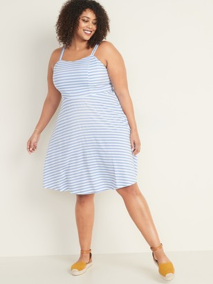 Old Navy Striped Fit & Flare Plus-Size Cami Dress