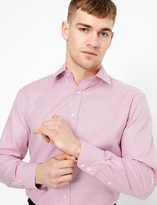 Marks and Spencer Regular Fit Pure Cotton Checked Shirt