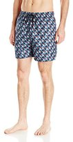 Nautica Men's Quick-Dry Geo-Print Swim Trunk