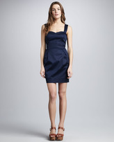 French Connection Nocturnal Satin Cocktail Dress
