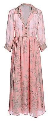 Black Iris Women's The Grace Floral Silk Chiffon Dress