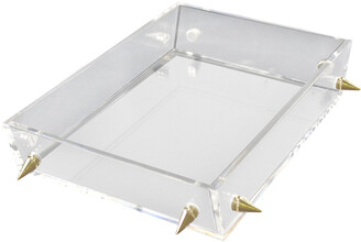 R16 Lucite Small Gold Stud Tray
