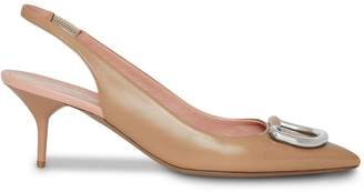 Burberry The Patent Leather D-ring Slingback Pump