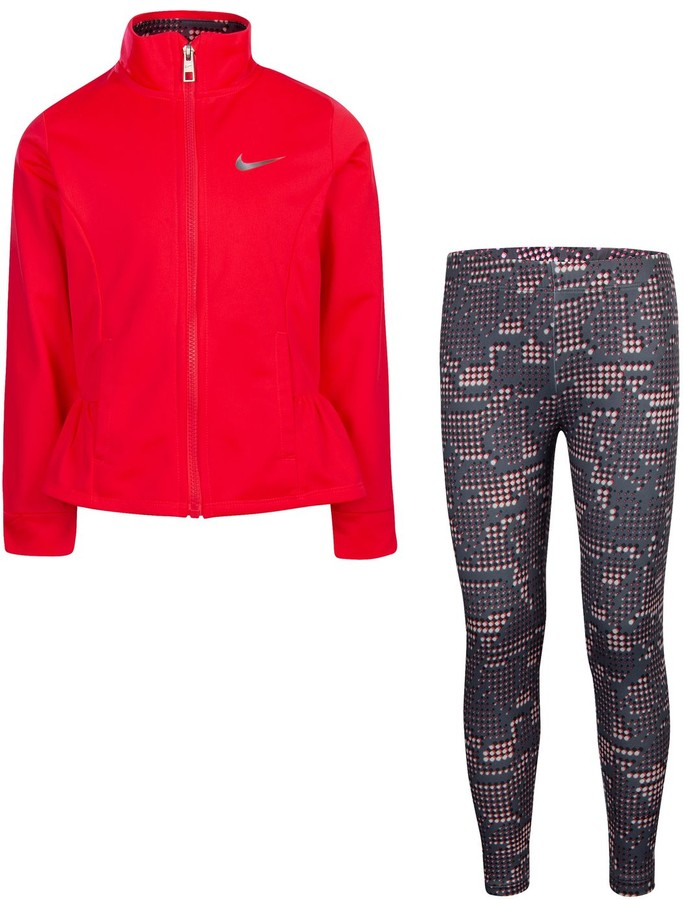 Nike Girls 4-6x Peplum-Hem Jacket & Dot Leggings Set