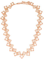 Tory Burch Faux Pearl & Crystal Collar Necklace