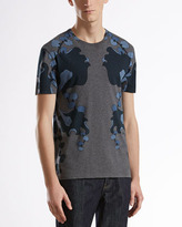 Gucci Spring-Print Tee, Gray/Blue
