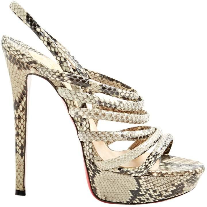 Christian Louboutin Python Sandals