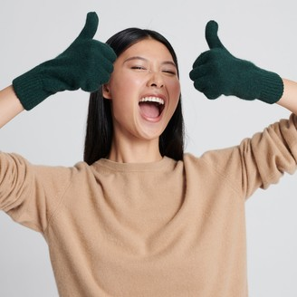 Naadam Signature Cashmere Gloves Forest Green