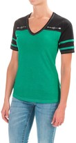 Cruel Girl Cotton Jersey Blend T-Shirt - V-Neck, Short Sleeve (For Women)