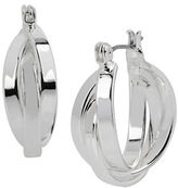 Kenneth Cole New York Multi-Row Silvertone Hoop Earrings - 1 In.