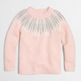 J.Crew Factory Girls' embellished Fair Isle popover sweater
