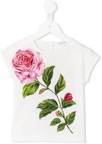 Dolce & Gabbana rose print T-shirt - kids - Cotton - 24 mth