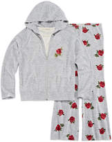 Self Esteem Brushed Zip Hoodie & Flare Pant Set- Girls' 7-16 & Plus