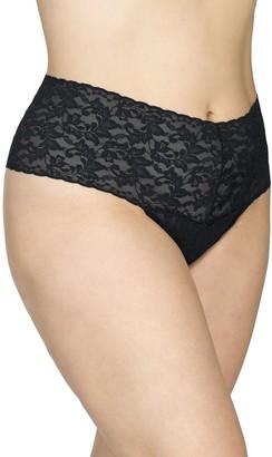 Hanky Panky Retro Lace Plus-Size Thong