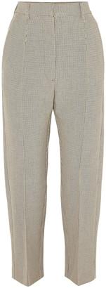 MM6 MAISON MARGIELA Cropped Checked Jacquard Straight-leg Pants