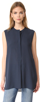 Vince Sleeveless Tunic Blouse
