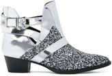 Philipp Plein glitter panel ankle boots