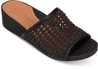 Gentle Souls by Kenneth Cole Women Gisele Wedge Slides Women Shoes