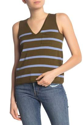 525 America Striped V-Neck Tank