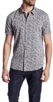 Star USA By John Varvatos Trim Fit Camo Print Short Sleeve Sport Shirt
