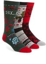 Stance Men's 3-Pack Christmas Sweater Socks