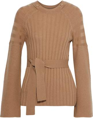 Equipment Dorise Ribbed Wool And Cashmere Blend Sweater