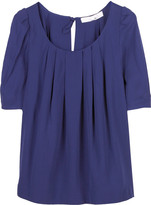 Silk pleated blouse