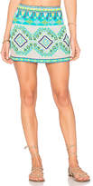 Rococo Sand Mini Skirt in Turquoise. - size L (also in M,S)