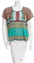 Clover Canyon Geometric Print Cap Sleeve Top