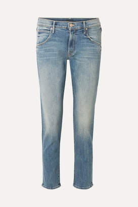 Mother The Ditcher Cropped Mid-rise Straight-leg Jeans - Mid denim