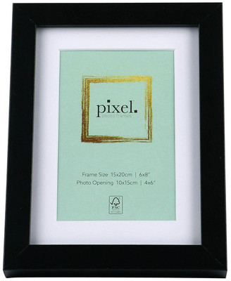 Pixel Photo Frames Pixel Black Photo Frame 15x20cm with 10x15cm Opening