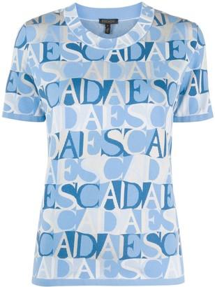 Escada Logo Print Short Sleeve Top
