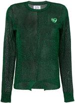 Zoe Karssen sheer glitter sweater - women - Polyester - XS