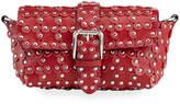 RED Valentino Floral-Studded Leather Shoulder Bag